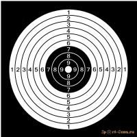 Мишень 14см-14см (50 шт.)