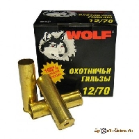 Гильза латунная 12/70 ТПЗ WOLF (25шт.)