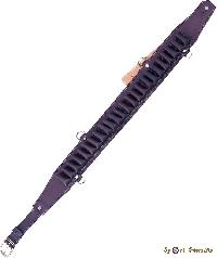 Патронташ К-12 24 патрона открытый гладкая кожа (IV) 210-4