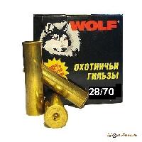 Гильза латунная 28/70 ТПЗ WOLF (25шт.)