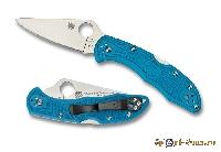 Нож складной Spyderco Delica Blue Handles SC/11FPBL