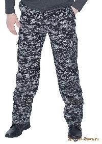 Брюки Армия (смесовая, черная цифра) 7.62 «Новатекс»