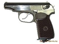 Пневматический пистолет МР-654(никелированный)