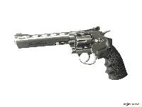 Пневматический револьвер Dan Wesson 6 серебристый Silver