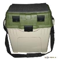 Ящик рыболовный  двухъярусный с подкладкой Aquatech зеленый пластик