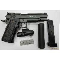 Пистолет COLT 1911 PD с глушителем и лцу (Galaxy G6А)