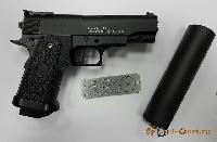 Пистолет Colt1911PD mini с глушителем (Galaxy G.10A)