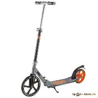Самокат городской NOVATRACK POLIS алюм., max 100кг, колеса 250*200 мм, оранжевый