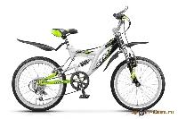 Велосипед Pilot-250 20 6-ск., 2-х подвес, рама сталь