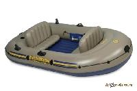 Лодка надувная Excursion 3 262х157х42 68319 (г/п300кг) (насос, Al весла, ремкомплект, 2сиденья, сумк