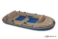 Лодка надувная Excursion 5 366х168х43 68325 (г/п455кг) (насос, Al весла, ремкомплект, 3сиденья, сумк