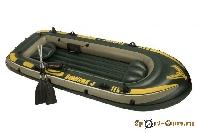 Лодка надувная SeaHawk 4 338х127х50 68350 (г/п370кг) (2 надувных сиденья)