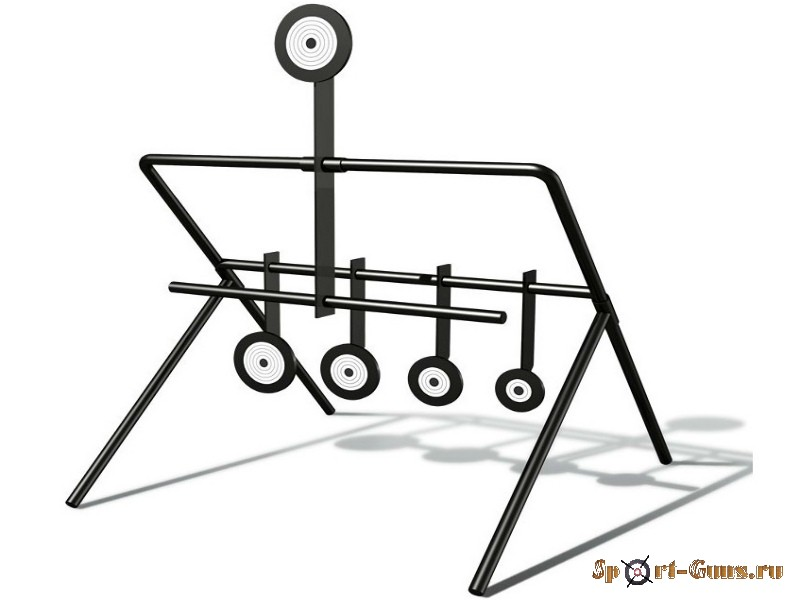 Минитир STALKER  Круги  самосброс, для пневматич.оружия 4,5мм, 5 медальонов разн.диаметра., 270х340х