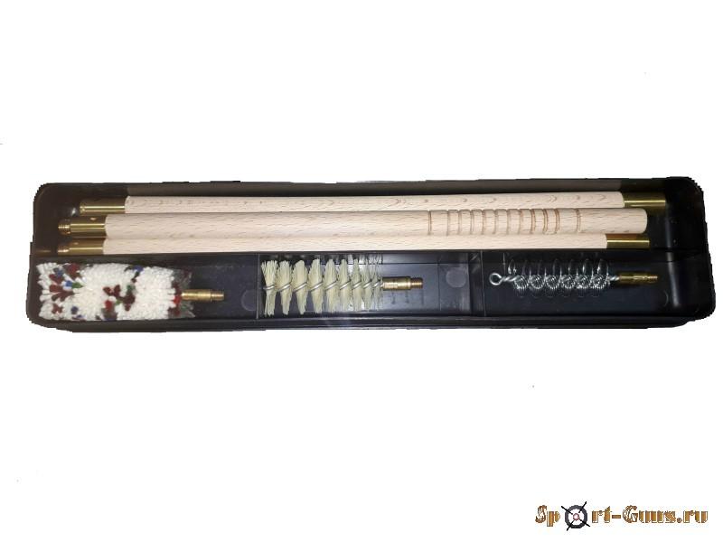 Набор для чистки 16К шомпол деревянный (пластм. футляр)