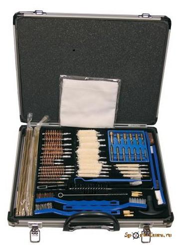 Универсальный набор для чистки оружия в алюминиевом кофре из 63 предметов