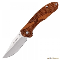Нож Buck R40001 Liner Lock Large Wood Handle 420J2, рукоять дерево