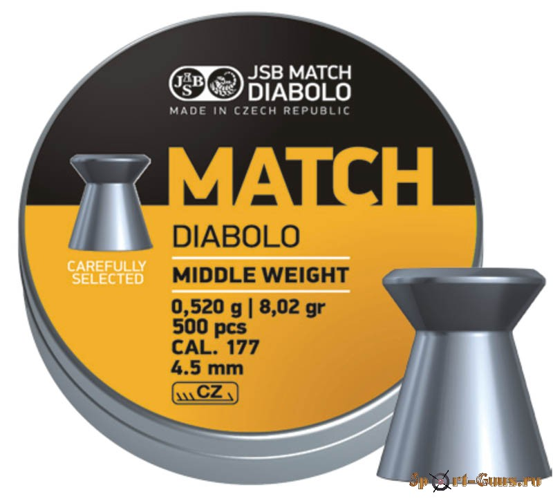 Пули JSB YELLOW MATCH DIABOLO Middle Weight
