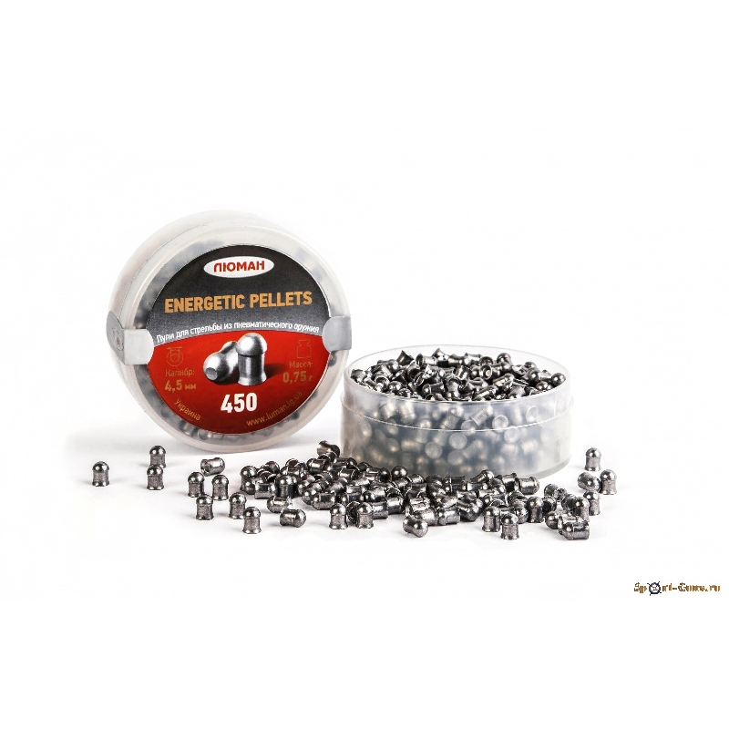 Пули Люман Energetic pellets 4,5 мм 0,75 г (450 шт.)