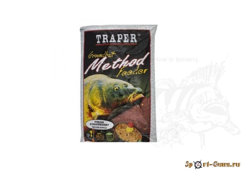 TRAPER Method Feeder Fresh Strawberry 750г.  Клубника