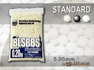 Шарики BLS 0,20  (1кг, белые, пакет)