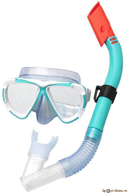 Набор маска и трубка для ныряния Dive Mira от 14лет, BestWay 24053