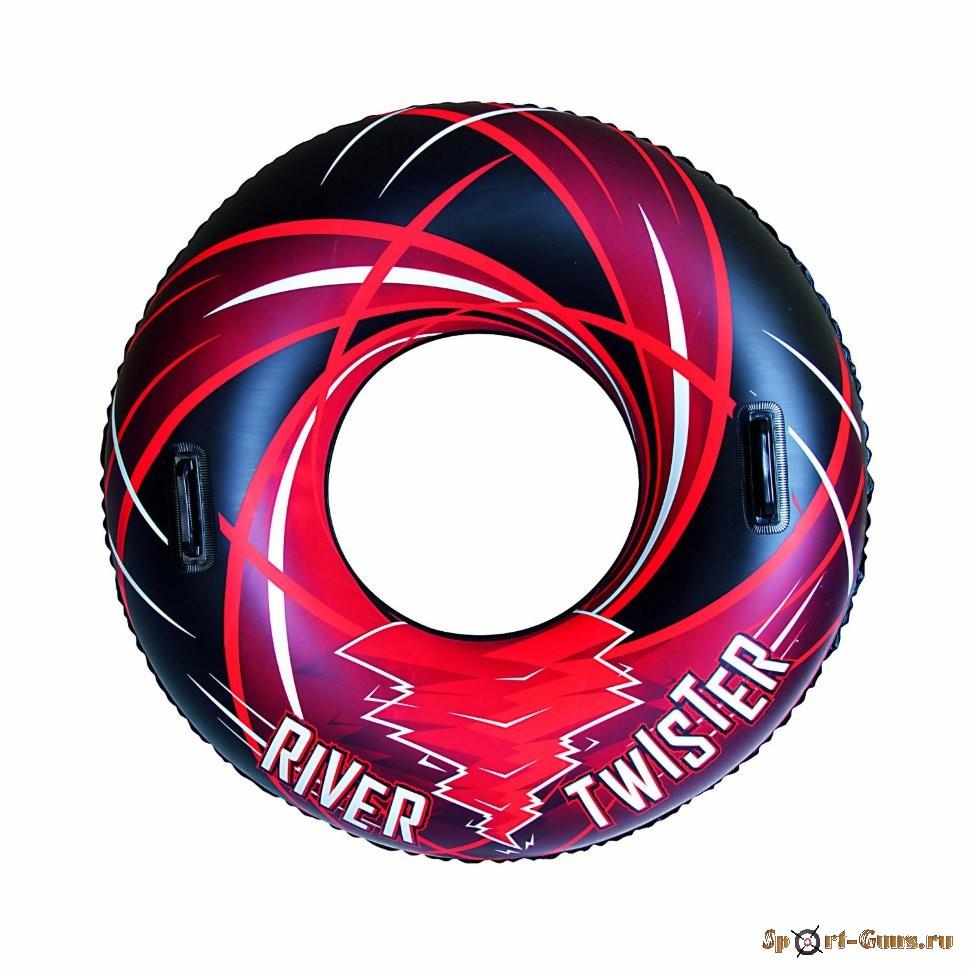 Круг River Twister для детей от 12 лет, 107см с ручками, 2 клапана, 36107 BW